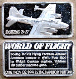 Boeing B-17' Art Bar by Hamilton Mint.