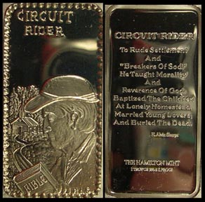 Circuit Rider' Art Bar by Hamilton Mint.