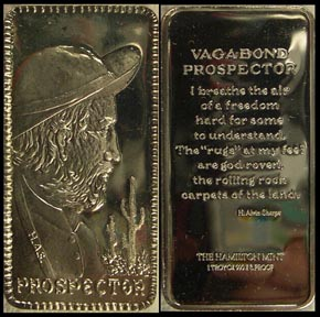 Prospector' Art Bar by Hamilton Mint.