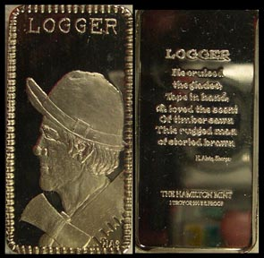 Logger' Art Bar by Hamilton Mint. MAIN