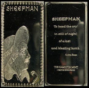Sheepman' Art Bar by Hamilton Mint.