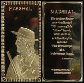 Marshall' Art Bar by Hamilton Mint.