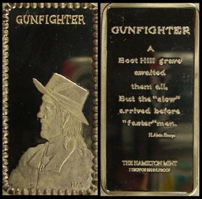Gunfighter' Art Bar by Hamilton Mint.