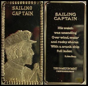 Sailing Captain' Art Bar by Hamilton Mint.