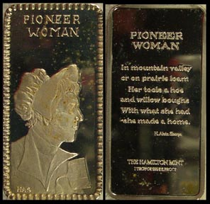 Pioneer Woman' Art Bar by Hamilton Mint.