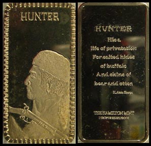 Hunter' Art Bar by Hamilton Mint.