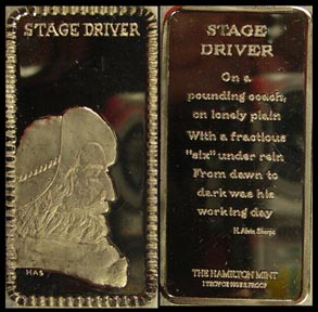 Stage Driver' Art Bar by Hamilton Mint.