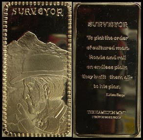 Surveyor' Art Bar by Hamilton Mint.