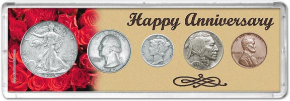 1934 Happy Anniversary Coin Gift Set LARGE