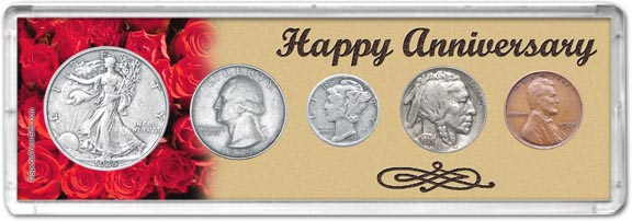 1935 Happy Anniversary Coin Gift Set LARGE
