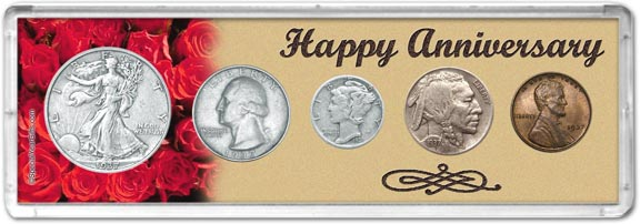 1937 Happy Anniversary Coin Gift Set LARGE