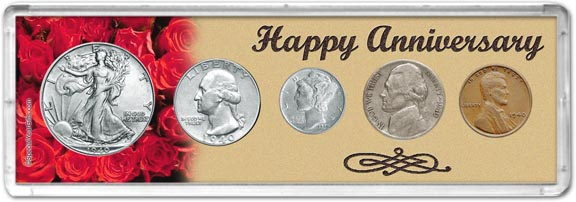 1940 Happy Anniversary Coin Gift Set LARGE