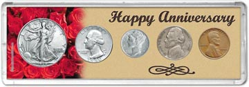 1940 Happy Anniversary Coin Gift Set THUMBNAIL