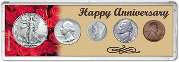 1942 Happy Anniversary Coin Gift Set THUMBNAIL
