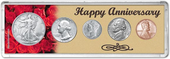 1944 Happy Anniversary Coin Gift Set LARGE