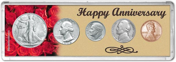 1946 Happy Anniversary Coin Gift Set LARGE
