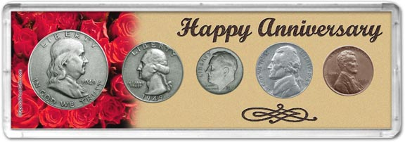 1949 Happy Anniversary Coin Gift Set LARGE
