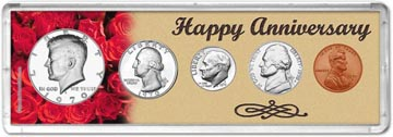 1970 Happy Anniversary Coin Gift Set THUMBNAIL