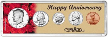 1974 Happy Anniversary Coin Gift Set THUMBNAIL