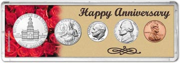 1975 Happy Anniversary Coin Gift Set THUMBNAIL