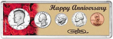 1977 Happy Anniversary Coin Gift Set THUMBNAIL