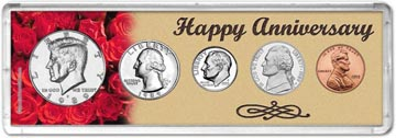 1989 Happy Anniversary Coin Gift Set THUMBNAIL