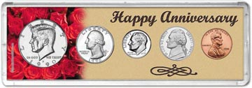 1990 Happy Anniversary Coin Gift Set THUMBNAIL