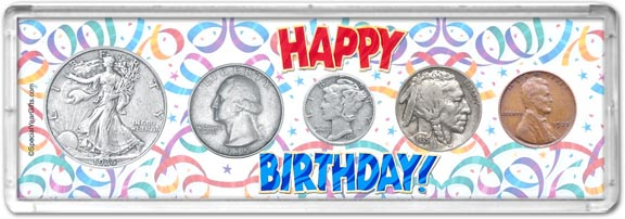 1935 Happy Birthday Coin Gift Set LARGE
