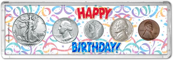 1941 Happy Birthday Coin Gift Set LARGE