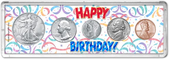 1944 Happy Birthday Coin Gift Set LARGE