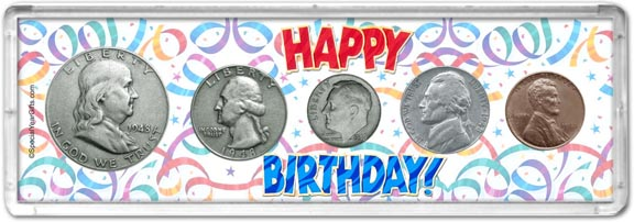 1948 Happy Birthday Coin Gift Set LARGE