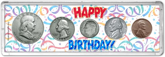 1953 Happy Birthday Coin Gift Set LARGE