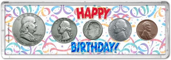 1954 Happy Birthday Coin Gift Set LARGE