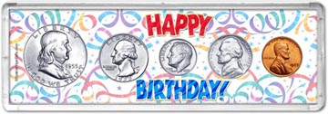 1955 Happy Birthday Coin Gift Set THUMBNAIL