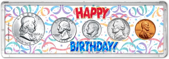 1962 Happy Birthday Coin Gift Set LARGE