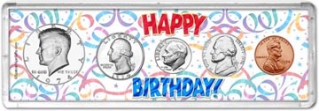 1974 Happy Birthday Coin Gift Set THUMBNAIL