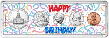 1975 Happy Birthday Coin Gift Set THUMBNAIL