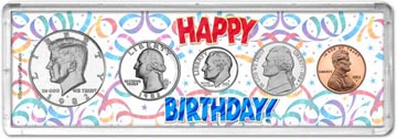 1982 Happy Birthday Coin Gift Set THUMBNAIL