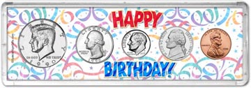 1990 Happy Birthday Coin Gift Set THUMBNAIL