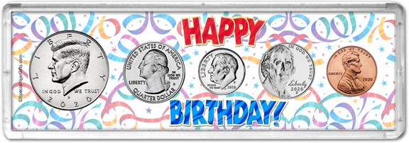 Happy Birthday Coin Gift Set LARGE