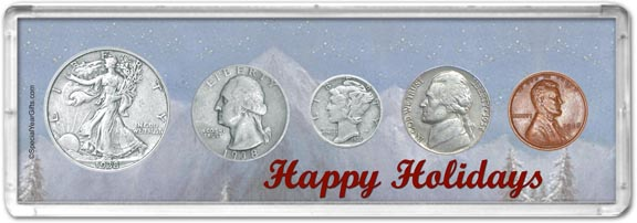 1938 Happy Holidays Coin Gift Set LARGE