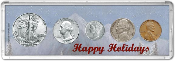 1940 Happy Holidays Coin Gift Set LARGE