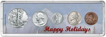 1941 Happy Holidays Coin Gift Set THUMBNAIL