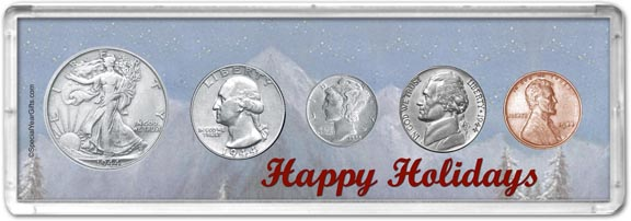 1944 Happy Holidays Coin Gift Set LARGE