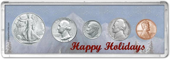 1946 Happy Holidays Coin Gift Set LARGE