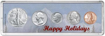 1947 Happy Holidays Coin Gift Set THUMBNAIL