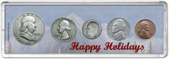 1948 Happy Holidays Coin Gift Set LARGE