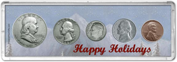 1950 Happy Holidays Coin Gift Set LARGE