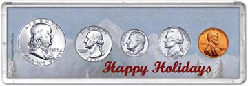 1955 Happy Holidays Coin Gift Set THUMBNAIL