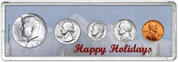 1967 Happy Holidays Coin Gift Set THUMBNAIL